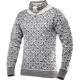 Devold Svalbard Suéter Cremallera Cuello, beige/gris